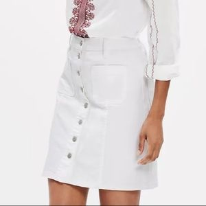 Madewell Denim Button-Front Skirt White Size 26